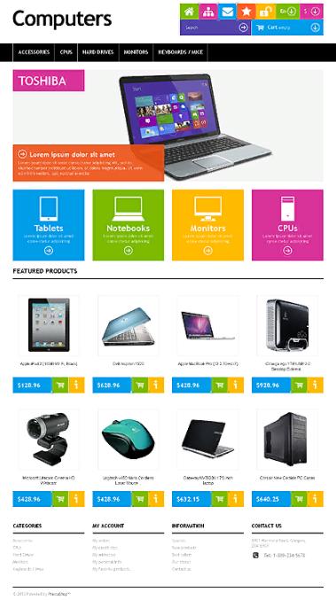 Giao diện website sửa chữa vi tính, bán hàng vi tính đẹp mắt