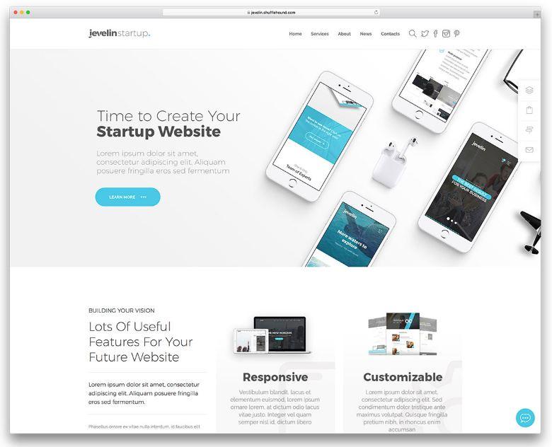 Jevelin - theme wordpress cho starup công nghệ tinh tế