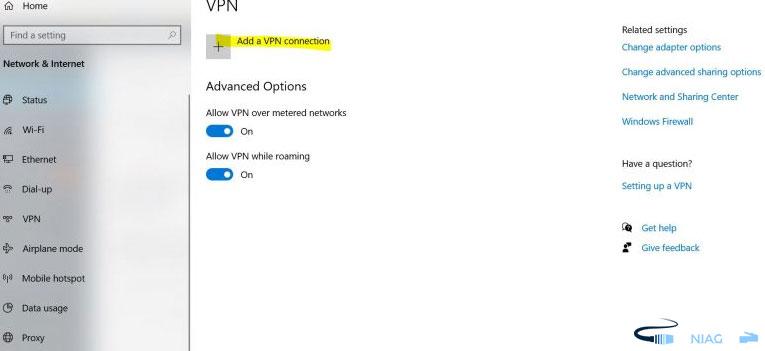 điền thông tin VPN