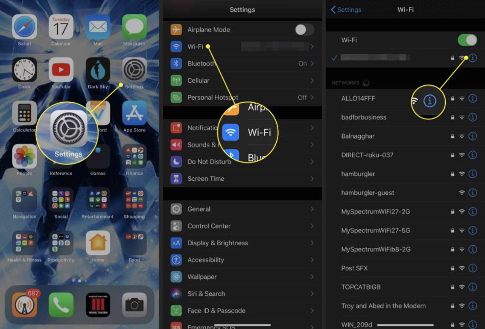 Cách thay đổi địa chỉ IP trên iOS